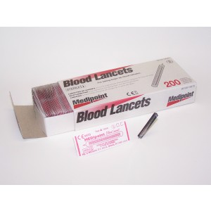 Sterile Disposable Individually Wrapped Blood Lancets