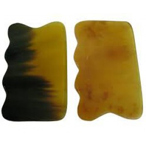 yellow Ox Horn Guasha  - 1 each