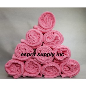 professional pink cotton spa  facial towel hot stem or cold  face towel steamer skin care10 towels in a set